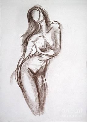 Drawing - Sandra Falga by Jarmo Korhonen aka Jarko