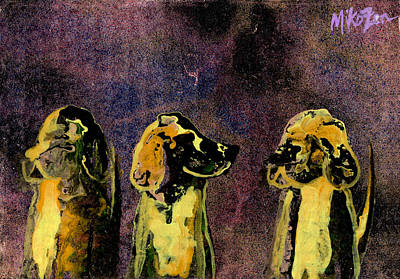 Cardboard Mixed Media - Quick Nobodys Looking by Art By Miko