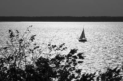 Photograph - Quick Silver - Sailboat On Lake Barkley by Jane Eleanor Nicholas