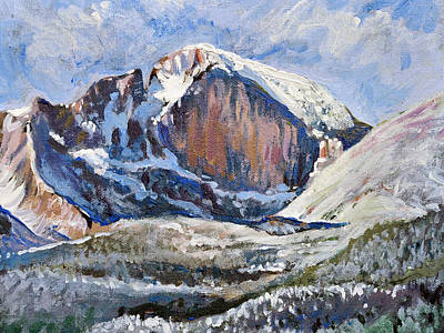 Quick Sketch - Longs Peak Art Print by Aaron Spong