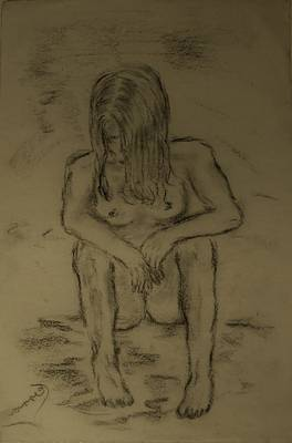 Drawing - Quick Sketch Nude by Carrie Viscome Skinner
