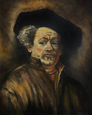 Replica Painting - Quick Study Of Rembrandt by Stefon Marc Brown