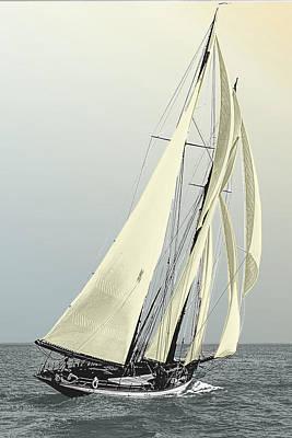 Photograph - Quickstep - Schooner Yacht by Jonah Gibson