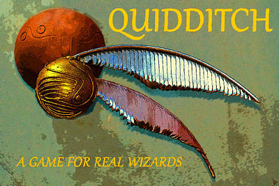 Painting - Quidditch Game Poster Art by David Lee Thompson