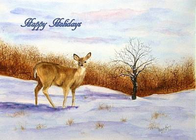 Painting - Quiet Browse - Happy Holidays by Peggy King