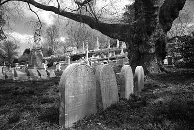 Eerie Photograph - Quiet Cemetery by Jennifer Ancker