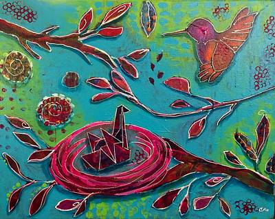 Miscarriage Painting - Quiet Contentment by Clarisse Pastor-Medina