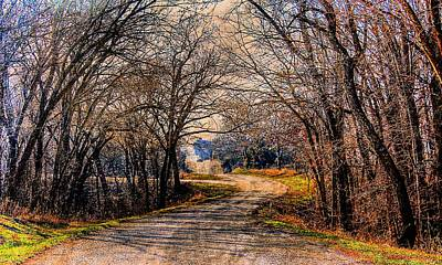 Quiet Country Road Art Print