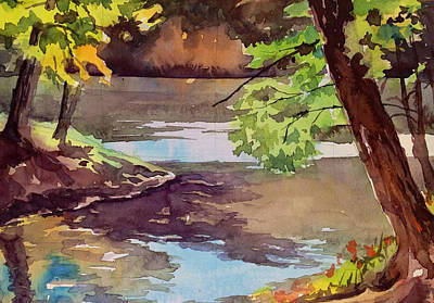 Nashville Park Painting - Quiet Cove by Spencer Meagher