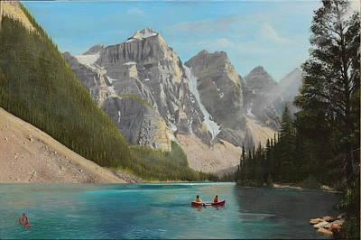 Art Print featuring the painting Quiet Day by Glenn Beasley