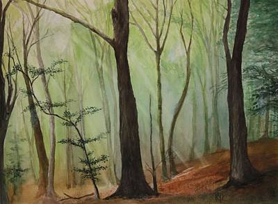 Painting - Quiet Forest by Rachel Hames