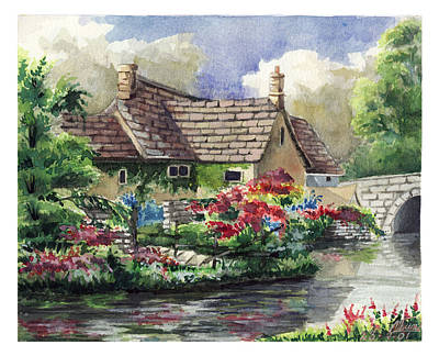 Quiet House Along The River Art Print