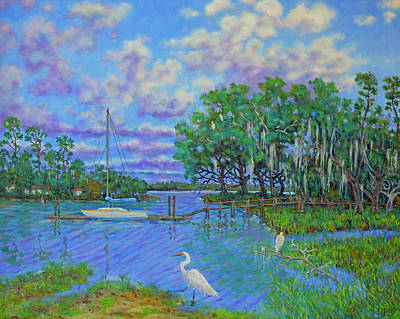 Painting - Quiet Low Country Lagoon by Dwain Ray