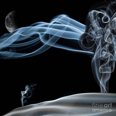 Abstract Photograph - Quiet Night Smoke Photography by Sabine Jacobs
