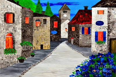 Painting - Quiet Old Town by Mariana Stauffer