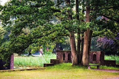 Peaceful Scene Photograph - Quiet Park Corner. De Haar Castle by Jenny Rainbow