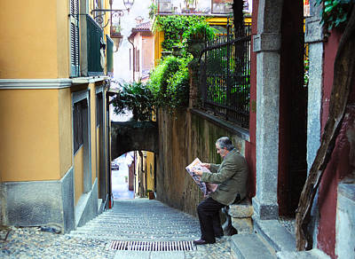 Photograph - Quiet Reading In Bellagio by Haleh Mahbod
