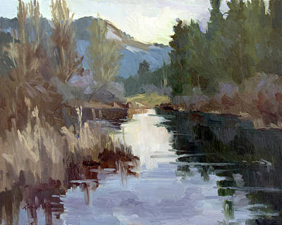 Waterscape Painting - Quiet Reflections At Harry's Pond by Diane McClary