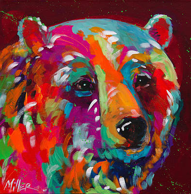 Wild Bear Painting - Quiet Repose by Tracy Miller