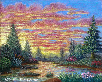 Pastel - Quiet River by Michael Heikkinen