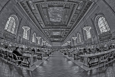 Novel Photograph - Quiet Room Bw by Susan Candelario