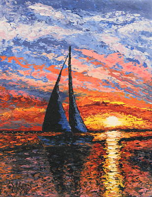 Painting - Quiet Sail IIi by Chrys Wilson
