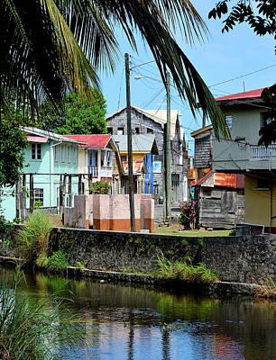 Telephone Poles Photograph - Quiet Saint Lucia Town  by Brendan Reals