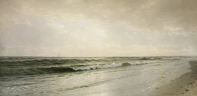 Reflecting Water Painting - Quiet Seascape by William Trost Richards