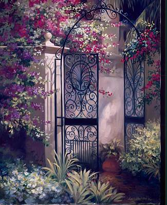 Spanish Villa Painting - Quiet Seclusion by Laurie Hein