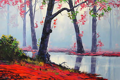 Fall Foliage Wall Art - Painting - Quiet Stream by Graham Gercken