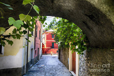 Stret Photograph - Quiet Street In Monterosso by George Oze