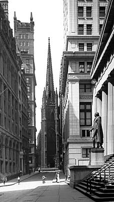 Quiet Sunday On Wall Street Art Print by Underwood Archives