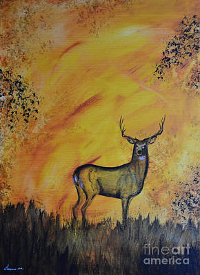 North American Wildlife Painting - Quiet Time3 by Laurianna Taylor