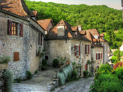 Stone Buildings Photograph - Quiet Village Life by Douglas J Fisher