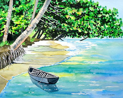 Painting - Quiet Waters In Paradise by Laurie Anderson