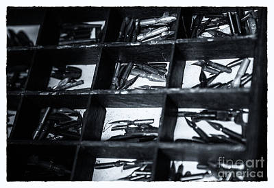 Caligraphy Photograph - Quill Nips Metal In Black And White by Iris Richardson
