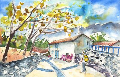 Autumn Landscape Drawing - Quillan 02 by Miki De Goodaboom
