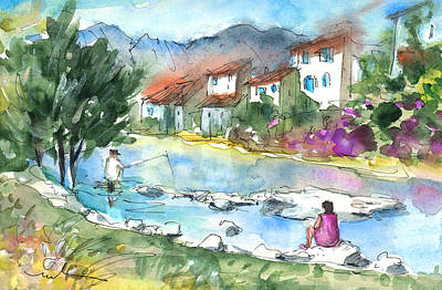 Waterscape Drawing - Quillan 03 by Miki De Goodaboom