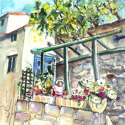 Daisy Drawing - Quillan 04 by Miki De Goodaboom