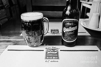 quilmes stout at irish pub and restaurant Ushuaia Argentina Art Print by Joe Fox