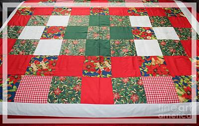 Queen Size Quilts Tapestry - Textile - Quilt Christmas Blocks by Barbara Griffin