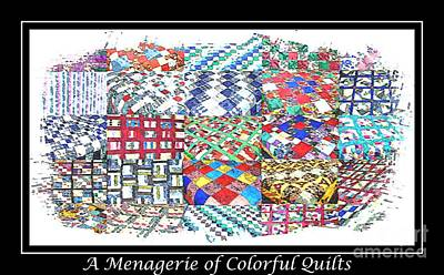 Block Quilts Digital Art - Quilt Collage Illustration by Barbara Griffin