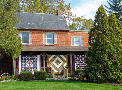 Quilt Maker's House Art Print by Jean Hall