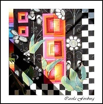 Mixed Media - Quilt Under Construction by Carola Ann-Margret Forsberg
