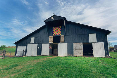 Quilt Portrait Photograph - Quilted Barn by Amber Flowers