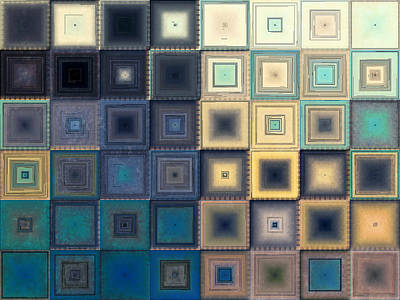 Block Quilts Digital Art - Quilted Blocks by Shawna Rowe