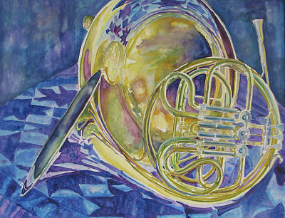 Tubas Painting - Quilted Brass by Jenny Armitage