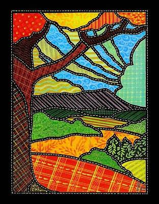 Quilted Bright Harvest Art Print