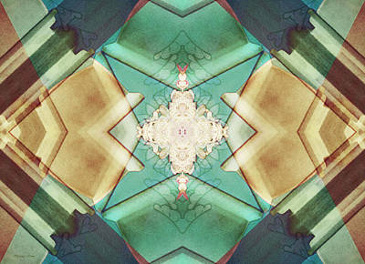 Digital Art - Quilted Origami 2 by Shawna Rowe
