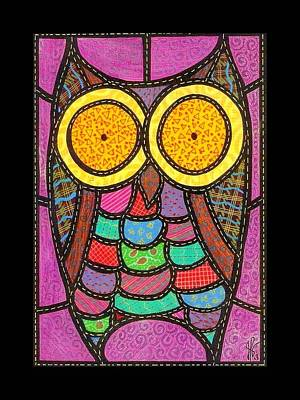 Quilted Owl Art Print